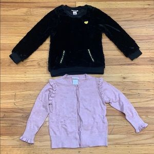 Lot of 2: ZARA Cardigan and JC Sweater, size 6-7
